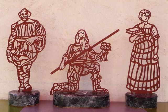 Ces sculptures en dentelle d'acier viendront orner le... (Courtoisie)