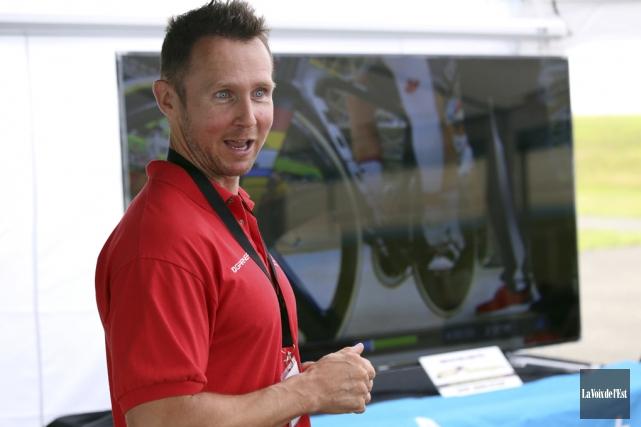 Yannik Morin, ex-entraîneur du cycliste Hugo Barrette, a... (Christophe Boisseau-Dion, La Voix de l'Est)