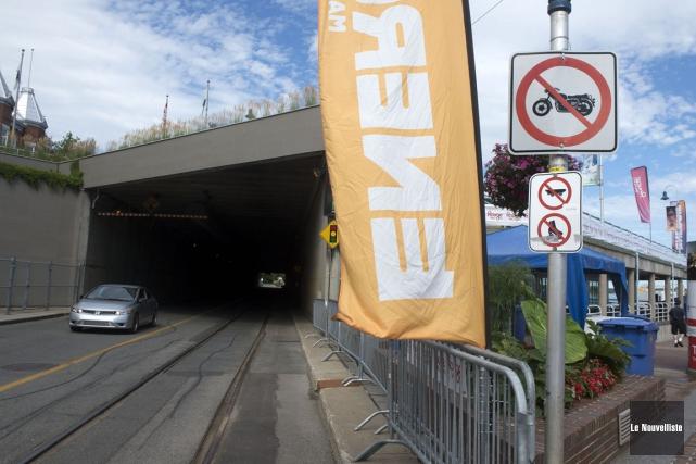 Les motos ne peuvent pas circuler dans le... (Stéphane Lessard, Le Nouvelliste)
