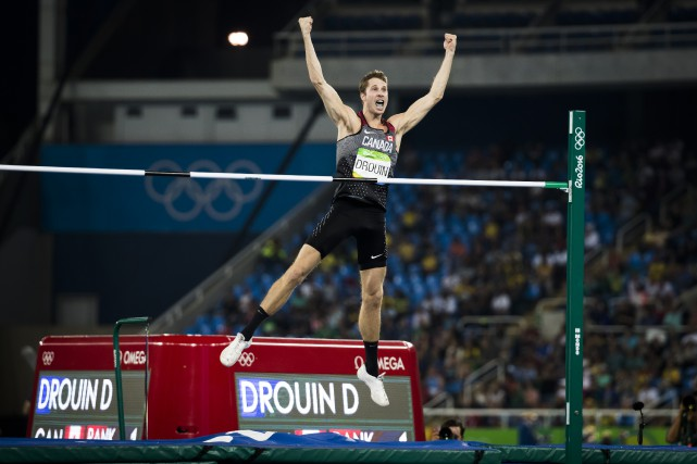 Derek Drouin... (PHOTO AFP)