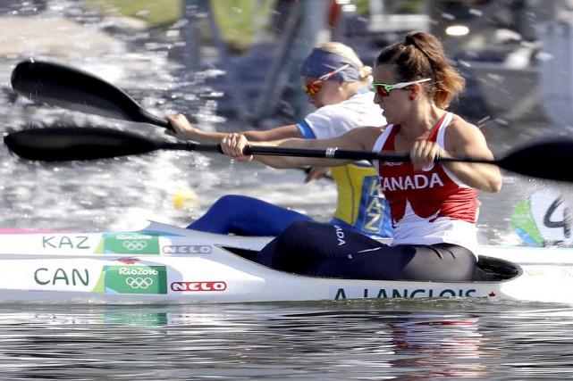 Sixième de la finale B, Andréanne Langlois a... (AP)