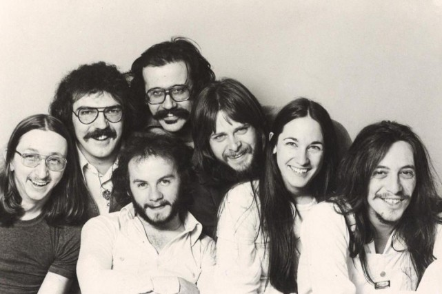 Harmonium en 1977. Serge Locat est le premier... (PhotoArchives CBS)