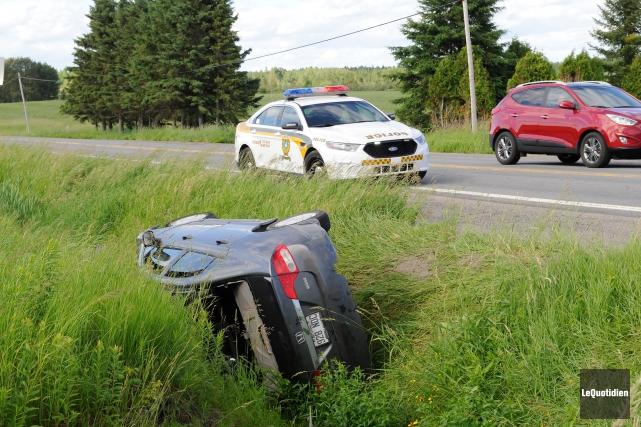 Après avoir roulé sur cinq kilomètres, la voiture... (Archives Le Quotidien, Gimmy Desbiens)