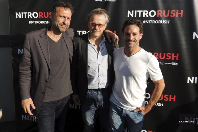 L'acteur Guillaume Lemay-Thivierge, à droite, a fait fureur... (La Tribune, Ronald Martel)