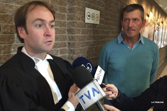L'avocat de la défense, Me Alexandre Tardif, s'est... (La Tribune, René-Charles Quirion)