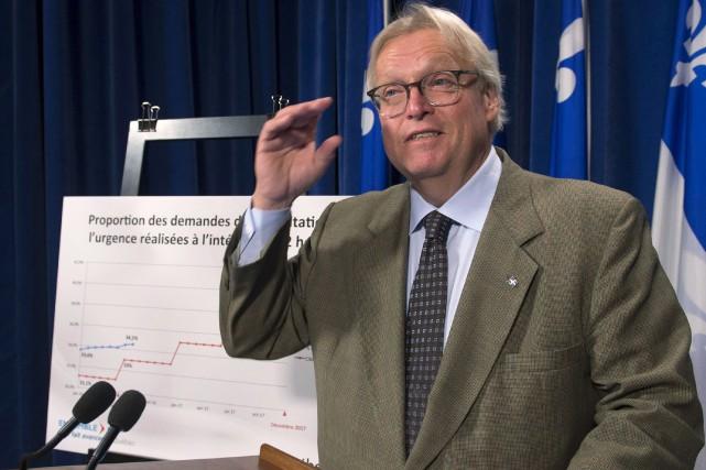 Le ministre Gaétan Barrette a affirmé, mercredi, que... (La Presse canadienne, Jacques Boissinot)