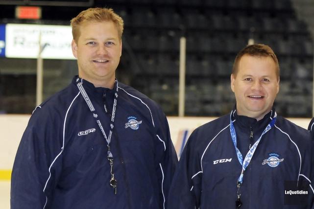 Patrick Gosselin (à gauche) a été entraîneur adjoint... (Archives Le Quotidien)
