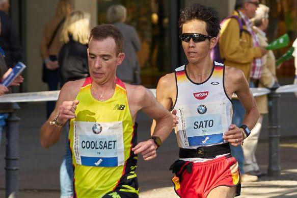 Reid Coolsaet, lors de sa participation au marathon... (PHOTO TIRÉE DE WIKIPÉDIA)