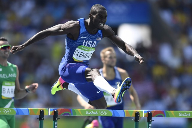 Kerron Clement... (Photo Fabrice Coffrini, AFP)