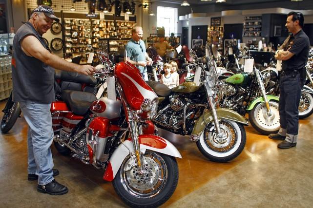Le ministère de la Justice reproche à Harley-Davidson... (Photo Damian Dovarganes, AP)