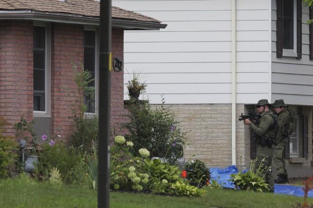 Aaron Driver est mort au cours d'une confrontation... (Photo La Presse canadienne, Dave Chidley)