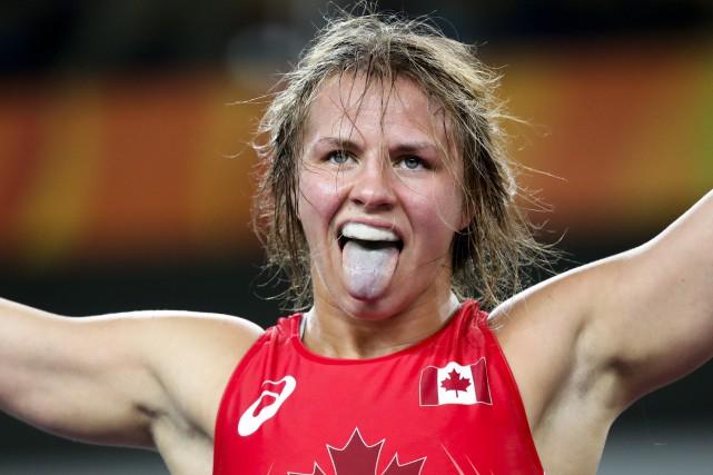 Erica Elizabeth Wiebe a célébré sa victoire qui... (AP)