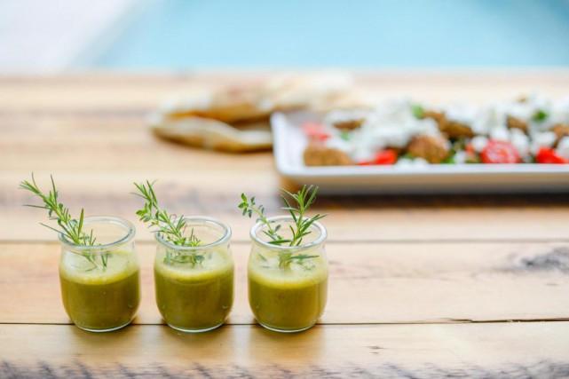 La recette présente un smoothie, mais nous l'avons... (PHOTO CATHERINE LEFEBVRE COLLABORATION SPECIALE)