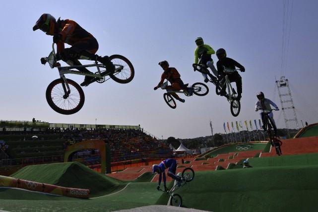 Le champion du monde de BMX, le Français... (AFP, Carl De Souza)