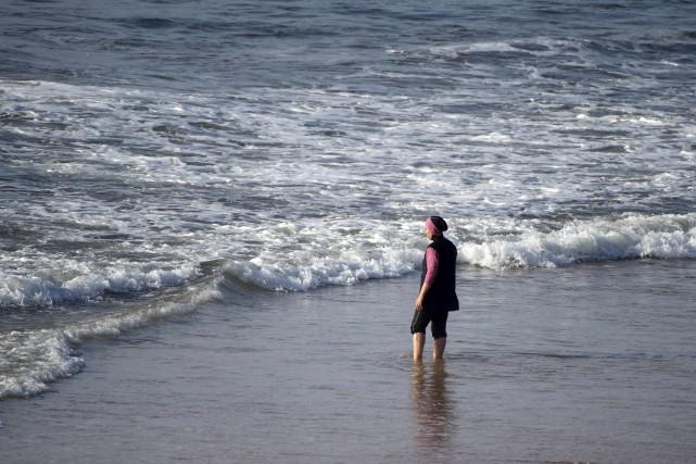 Une femme portant un burkini.... (AFP)