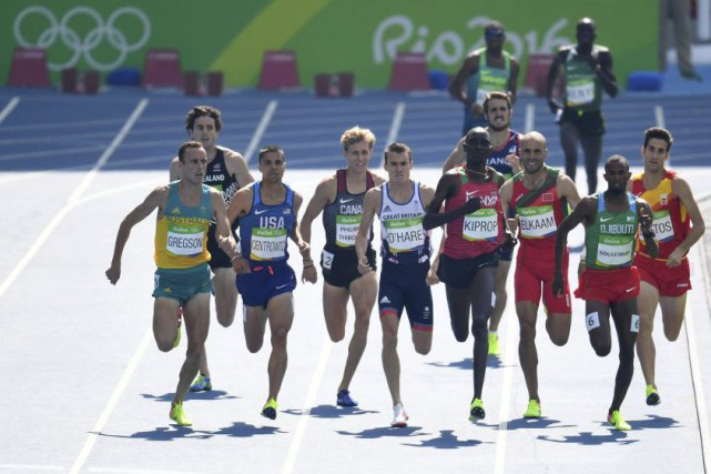 La demi-finale du 1500 m, jeudi, à Rio... (Photo PEDRO UGARTE, AFP)