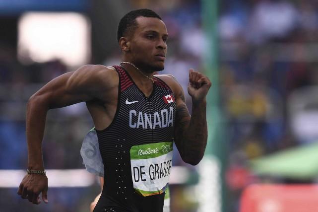Andre De Grasse a participé à sa cinquième... (AFP, Jewel Samad)