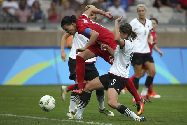 Les Allemandes ont trouvé le moyen de réduire... (The Associated Press)