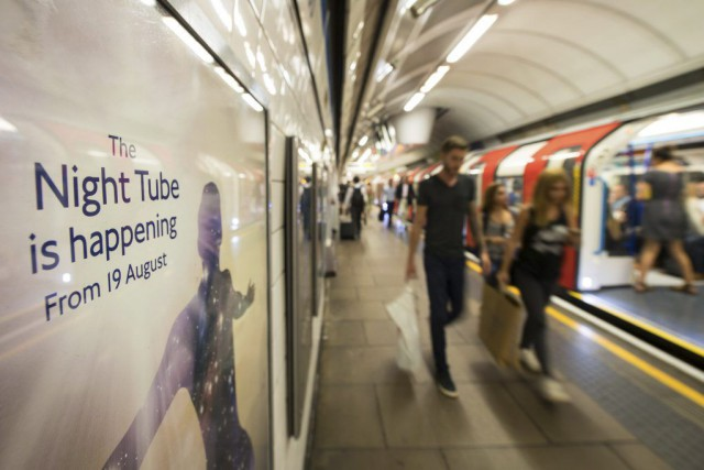 Le « Night Tube » sera d'abord offert deux lignes,... (PHOTO DOMINIC LIPINSKI, AP/PA)