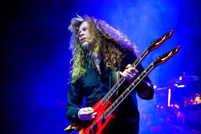 Dave Mustaine, leader deMegadeth, s'associe à Unibroue pour... (PhotoBalazs Mohai, Archives La Presse Canadienne)