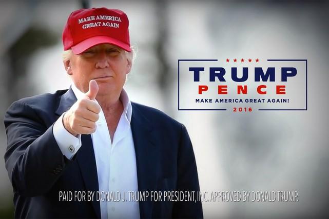 Donald Trump a choisi l'angle sécuritaire pour cette... (IMAGE TIRÉE D'UNE VIDÉO)