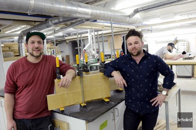 François Laviolette et Mathieu Bouchard, cofondateurs de L'Usine... (Photothèque Le Soleil, Erick Labbé)