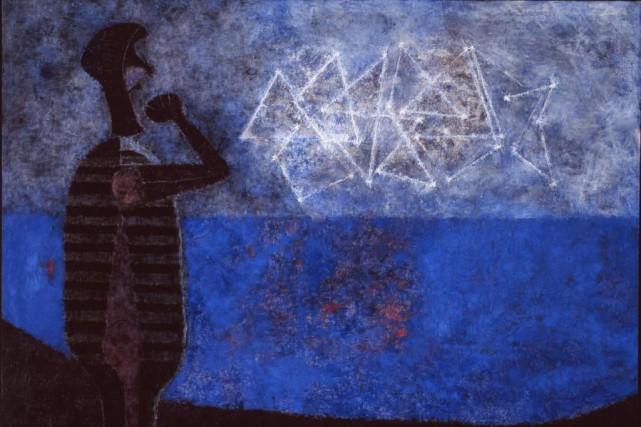 La grande galaxie, 1978, de Rufino Tamayo, huile... (Photo fournie par le MBAC)