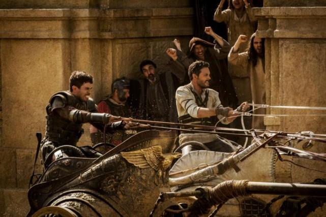La scène de la course de chars opposant... (Photo fournie par Paramount)
