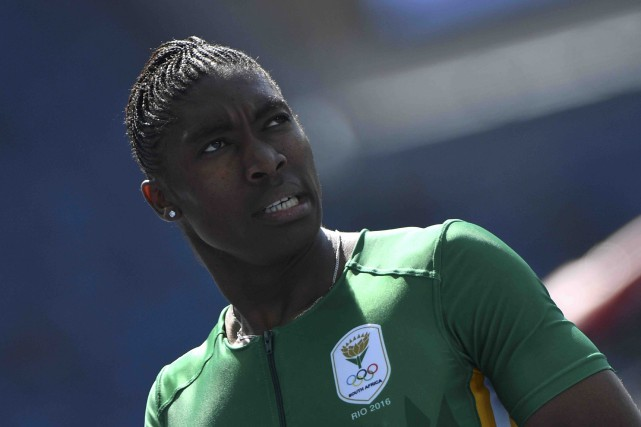 Intersexuée, la Sud-Africaine Caster Semenya, favorite au 800... (AFP, Olivier Morin)