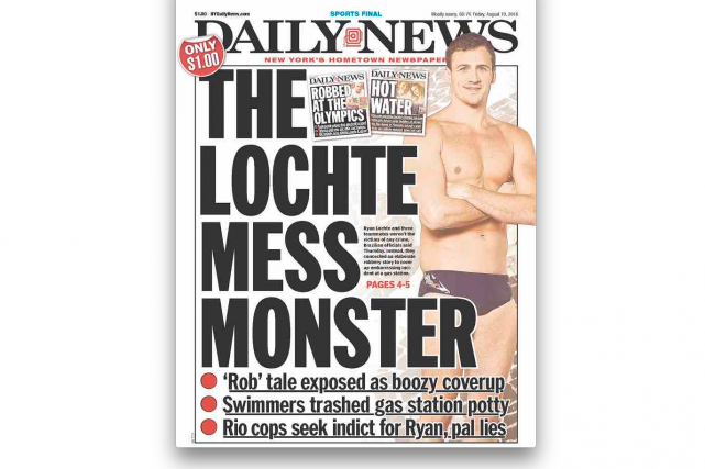 La une du Daily News de New York...