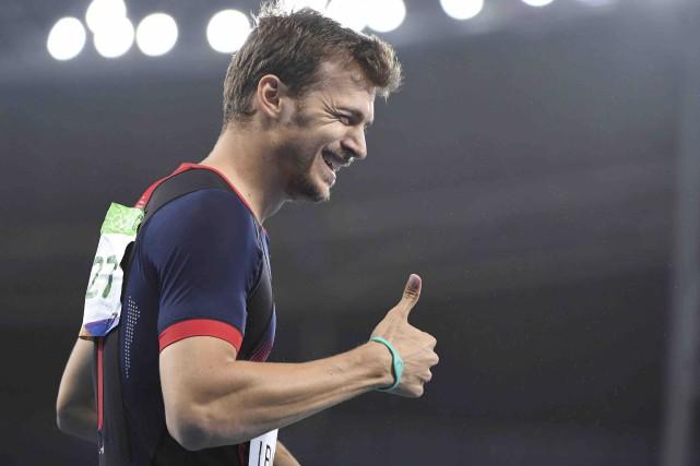 Le Français Christophe Lemaitre a gagné le bronze... (AFP, Olivier Morin)
