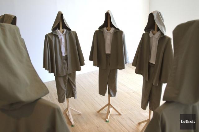 Les arts textiles ne tiennent qu'à un fil à la galerie d'art Axenéo7, secteur... (Patrick Woodbury, LeDroit)