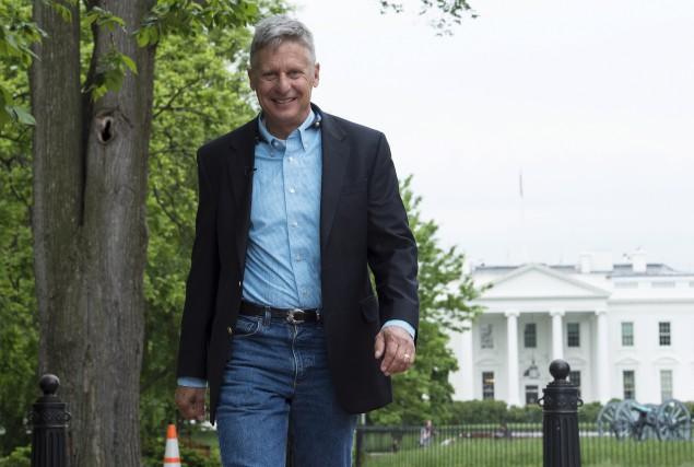 Le candidat libertarien Gary Johnson se présente comme... (AFP)