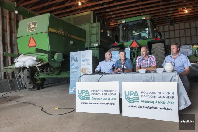 Le vice-président des Producteurs de lait de la... (Photo Le Quotidien, Michel Tremblay)