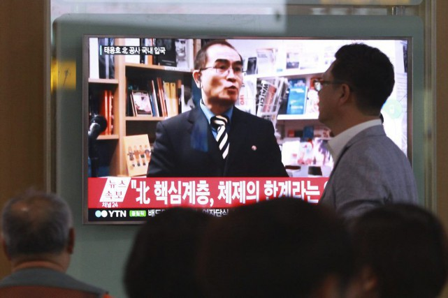 Le transfuge Thae Yong-Ho, numéro deux de l'ambassade... (PHOTO AHN YOUNG-JOON, ARCHIVES AP)