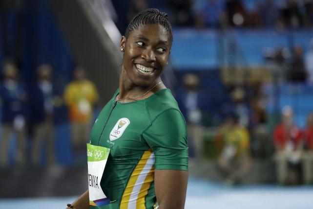 La Sud-Africaine Caster Semenya, athlète intersexuée qui possède... (AP, Matt Slocum)