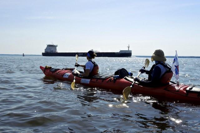 Concentrés dans l'effort, les kayakistes du Défi affrontaient... (Collaboration spéciale Jean-Sébastien Massicotte)
