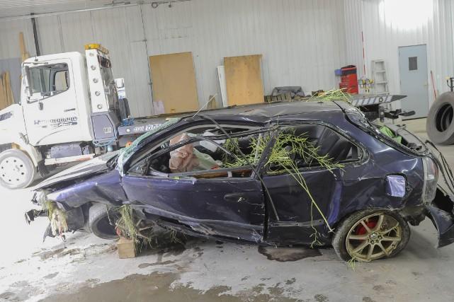 L'état de la femme gravement blessée dans l'accident... (Photo Le Progrès-Dimanche, Gimmy Desbiens)