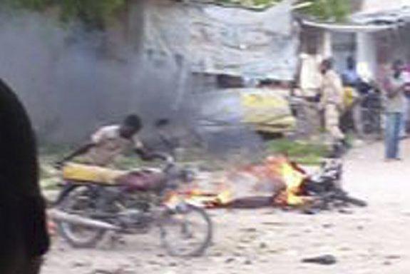 «Quatre personnes, trois civils et le kamikaze, sont... (PHOTO AGENCE FRANCE-PRESSE/STR)