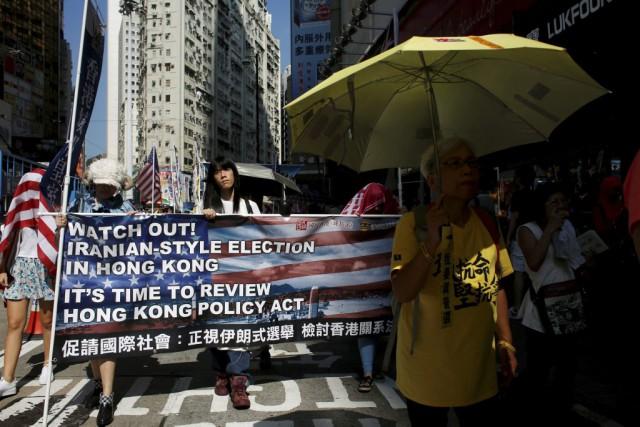 Les manifestants protestaient contre la disqualification ces derniers... (PHOTO BOBBY YIP, REUTERS)
