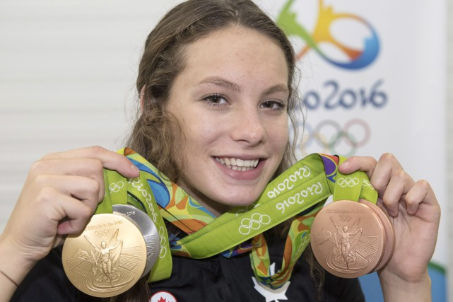 La Torontoise de 16 ans Penny Oleksiak a... (La Presse Canadienne, Ryan Remiorz)
