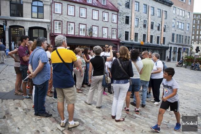Le dossier des permis de guide touristique progresse... (Le Soleil, Caroline Grégoire)
