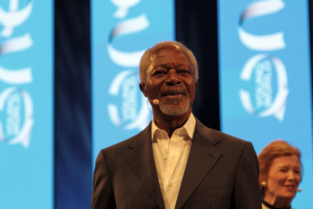 Kofi Annan, au sommet One Young World 2014,... (Wikimedia Commons/Stefan Schäfer)