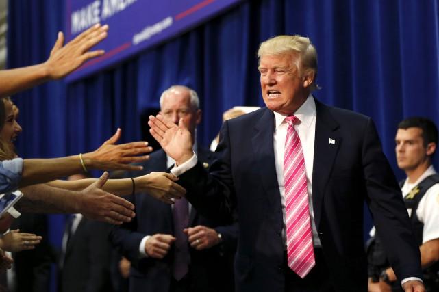 Donald Trump lors d'un rassemblement àFredericksburg en Virginie,... (AP, Gerald Herbert)