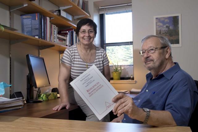 Le professeur émérite Serban Ionescu et son épouse,... (Sylvain Mayer)