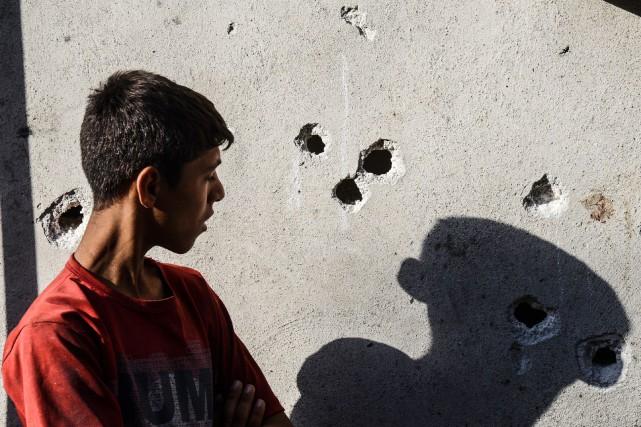 La majorité des morts sont des enfants ou... (PHOTO AFP)