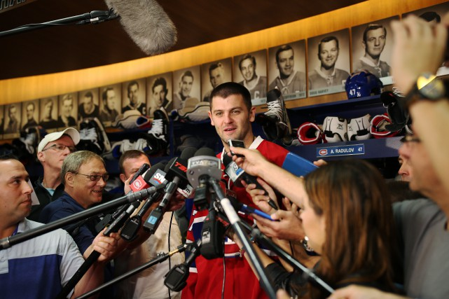 Arrivé à Montréal samedi soir, Alexander Radulov a... (La Presse, Martin Chamberland)