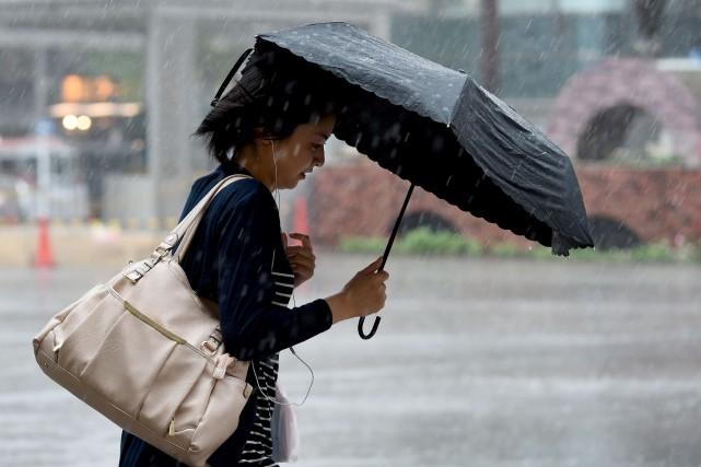 Le typhon Mindulle, neuvième de la saison en Asie, a provoqué quelques... (AFP)