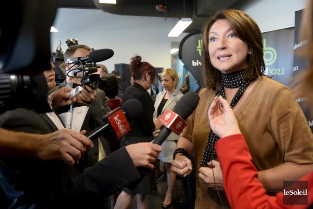 L'ex-politicienne a expliqué à la presse, dans les... (Le Soleil, Jean-Marie Villeneuve)