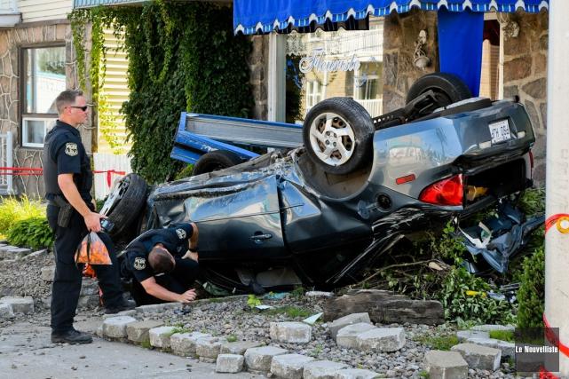 Le conducteur avait perdu le contrôle avant de... (Andréanne Lemire, Le Nouvelliste)